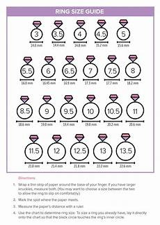 Womens Ring Size Chart Cm How To Find Your Ring Size At Home Using This Handy Chart