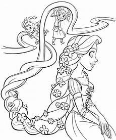 rapunzel coloring pages kidsuki