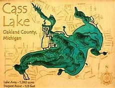 Cass Lake Depth Chart Wall Art 16x20