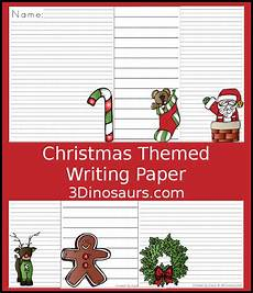 Christmas Themed Writing Paper Fun Free Christmas Themed Writing Paper 3 Dinosaurs
