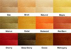 Natural Wood Colors Chart Environmental Green Products Timbersoy Color Chart