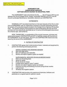 Free Landscaping Contract Forms 7 Landscaping Services Contract Templates Word Pdf