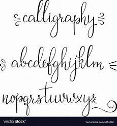 Cursive Free Fonts Calligraphy Cursive Font Royalty Free Vector Image