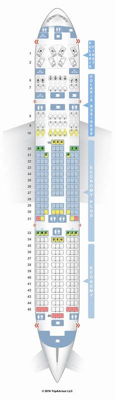 United Airlines Seating Chart 777 International Seatguru Seat Map United Boeing 777 200 772 V1 Three