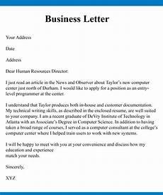 Simple Business Letter 4 Simple Business Letter With Example