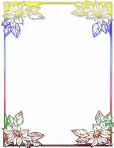 Ms Word Stationery Free Rainbow Floral Ms Word Stationery