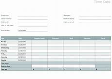 Time Card Tracker Time Card Template Excel Time Card Template