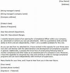 Compliance Cover Letters Compliance Officer Cover Letter Sample Lettercv Com