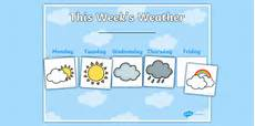 5 Day Weather Chart Weekly Weather Recording Chart Teacher Made