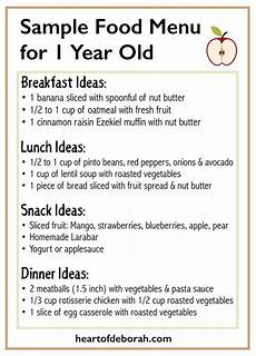 Baby Food Chart For One Year Old Sample Menu For One Year Old What Your Child Should Eat