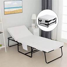 mecor foldable folding bed rollaway guest with 3 2 inch