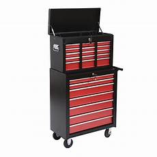 homcom heavy duty rolling tool chest cabinet w 16 drawers