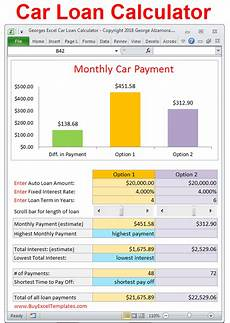 Auto Loan Calculator Excel Car Loan Payment Calculator Estimate Monthly Payment