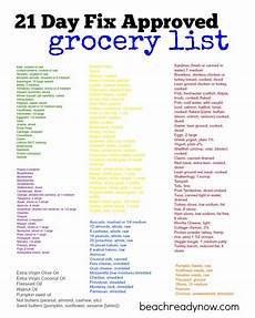 Normal Grocery List 21 Day Fix Approved Grocery List Beachreadynow Healthy