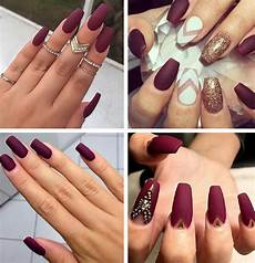 Burgundy And Black Nail Designs Burgundy Nails 45 Nail Designs For Different Shapes