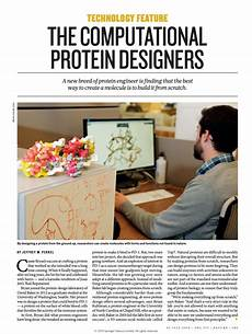 Institute For Protein Design Feature The Computational Protein Designers Institute