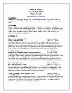 Resume For Child Care Director Child Care Resume 2014