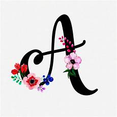 flower wallpaper letter letter a watercolor floral background vector free