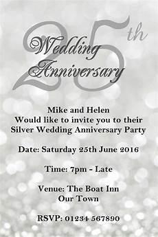 Printable Anniversary Party Invitations 25th Silver Wedding Anniversary Invitations 25th Wedding