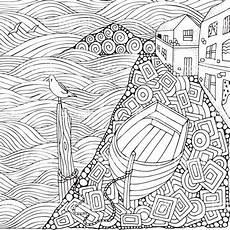 Malvorlagen Sterne Italien Promenade Am Meer Holzboot Ufer Liegen Malvorlagen Buch Fr