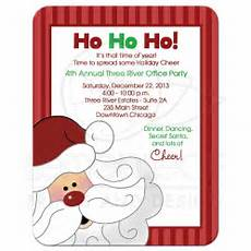 Office Christmas Party Invites Santa Claus Christmas Office Party Invitation
