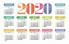 images for calendar 2020 colorful calendar 2020 bright fun cute week starts on