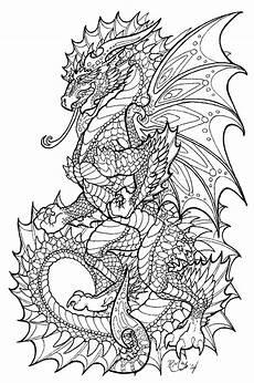 Ausmalbilder Drachen Erwachsene Pin Auf Drachen