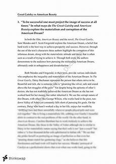 American Dream Essay Great Gatsby Great Gatsby Vs American Beauty Essay On Materialism And