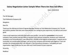 Negotiating A Job Offer Sample Letter 187 How To Negotiate A Salary Salary Negotiation Letter