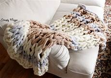 knit diy diy arm knit striped rib stitch blanket simplymaggie