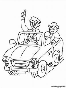 Driver Coloring Coloring Page Driver Coloring Pages