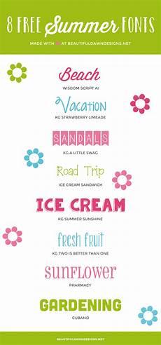 Fun Fonts Free Summer Fonts Beautiful Dawn Designs
