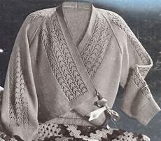 vintage knitting pattern bed jacket sweater wrap lace ebay