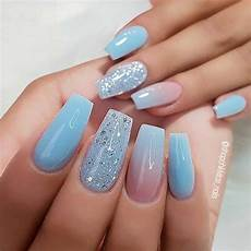 Light Blue Nails Coffin 43 Nail Ideas To Inspire Your Next Page 2 Of 4