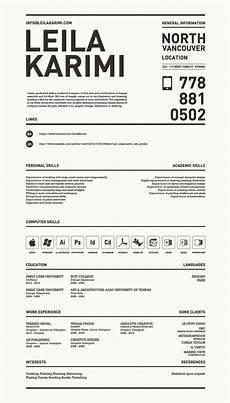 Good Looking Resume Designs Really Creative Simple Resume By Leila Karimi Via