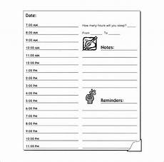 Free Hourly Schedule Template Hourly Schedule Template 34 Free Word Excel Pdf