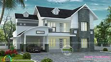 Home Design Roof Styles Curved Sloped Roof Villa Kerala Home Design And Floor