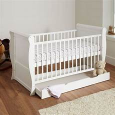 4baby sleigh deluxe cot bed with storage drawer maxi air