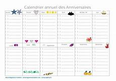 Calendrier Perpetuel Calendrier Annuel Des Anniversaires Calendrier