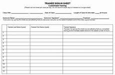 Army Sign In Roster 10 Free Sample Army Training Sign In Sheet Templates