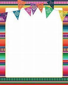 Fiesta Border Template Cinco De Mayo Border Aprendiendo Espa 241 Ol Mexican