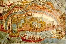 fresco old akrotiri santorini
