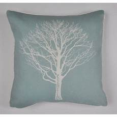 buy fusion woodland trees cushion cover 43x43cm duck egg