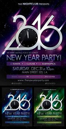 Party Poster Template 2016 New Year Party Poster Template Psd Design Nye