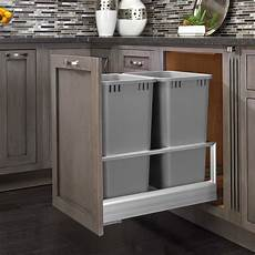 rev a shelf trash pullout 50 quart silver 5149