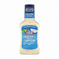Light Zesty Italian Dressing Nutrition Facts Kraft Calorie Wise Ranch Dressing