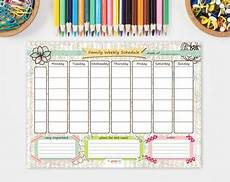 Family Schedule Organizer Items Similar To Weekly Family Schedule Printable