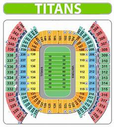 Titans Interactive Seating Chart Tennessee Titans Seating Chart Nissan Stadium