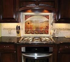 tile kitchen backsplash ideas about our tumbled tile mural backsplashes and accent