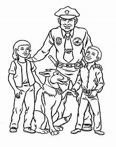 officer make friend with coloring page netart